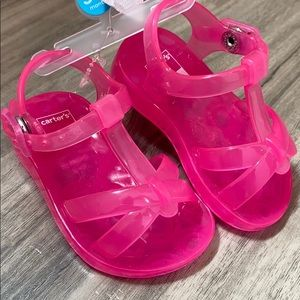 Carters hot pink Jelly Sandals